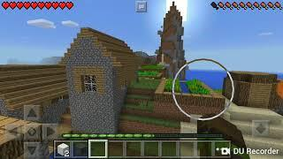 Выживание в Майнкрафт PE на телефоне. Я был в шоке когда нашёл деревню!!!