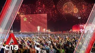 Massive fireworks display for China's 70th anniversary