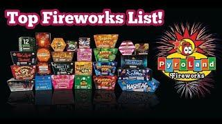 My Top 13 Fireworks from Pyroland!