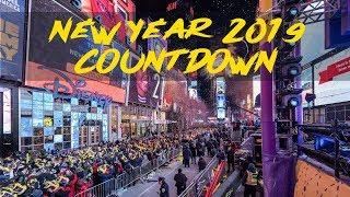 New Year 2019 - Times Square NYC Ball Drop Countdown - USA
