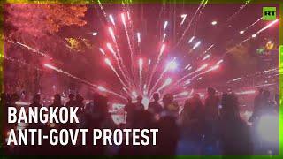 Fireworks vs Water cannons | Several arrested at Bangkok anti-govt protest