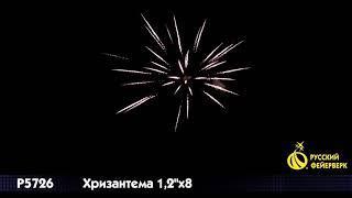 Римские свечи Р5726 Хризантема 1,2 х 8