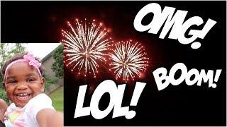 JAYLA'S ADORABLE REACTION TO FIREWORKS! | WAIT UNTIL YA'LL HEAR WHAT SHE SAID! LOL!
