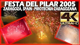 ⁽⁴ᴷ⁾ Festa Del Pilar, Zaragoza 2005, Fireworks, Fuegos artificiales, Feu d'Artifice, Feuerwerk