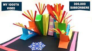 Celebration Fireworks Popup Card - DIY Tutorial by Paper Folds - 1000