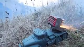 MLRS fireworks self-made by some Russian