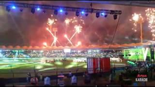 PSL Opening Ceremony 2020 | Fireworks view from Inside and outside National Stadium Karachi