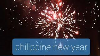 new year:philippines style,fireworks everywhere