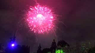 Halloween Screams Fireworks 2018 - Mickey's Halloween Party, Disneyland Park