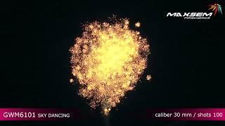 GWM6101 Небесный танец Sky dancing Батарея салютов 100 залпов высотой до 30 м, калибром 1,2 дюйма