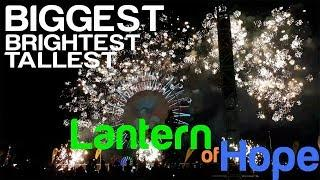 Fireworks Show in the TALLEST Ferris Wheel in the Philippines! Biggest Lantern of Hope 2018 [fullHD]