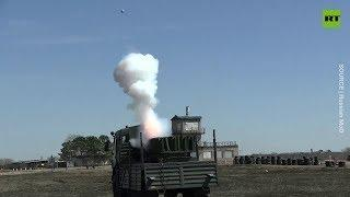 Up in the sky! Russian artillery units test-fire newest fireworks launcher