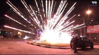 Как салюты взрываются на земле, новогодний салют в Новороссийске
