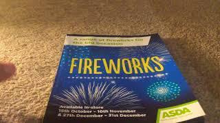 Asda 2019 Fireworks leaflet