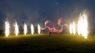 Лазерное шоу и фейерверк на свадьбу