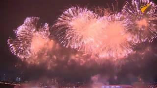 Moscow Celebrates the 2020 Defender of the Fatherland Day With a Fireworks Display