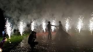 Шоу фонтанов на свадьбу.