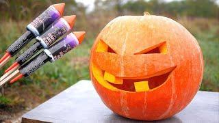 Experiment: XXL Fireworks vs Halloween Pumpkin | DIY