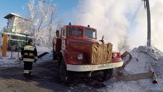 Авария на тепловых сетях в мороз.