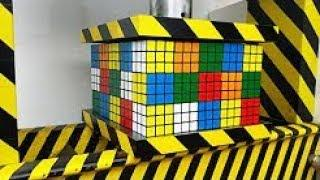 ГИДРАВЛИЧЕСКИЙ ПРЕСС 100 тонн VS 75 кубиков Рубика