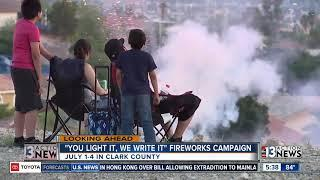 Cracking down on illegal fireworks