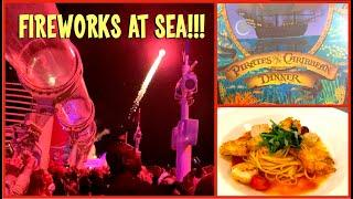Pirate Night on the Disney Dream Cruise Ship - Food & Fireworks!