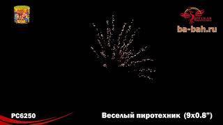 """Фейерверк РС6250 Веселый пиротехник (0,8"""" х 9) - НОВЫЕ ЭФФЕКТЫ 2018/19"""