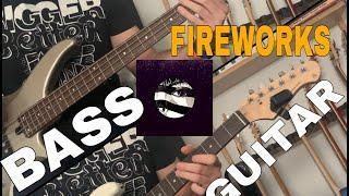 Purple Disco Machine - Fireworks GUITAR / BASS TUTORIAL + TAB