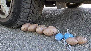 Crushing Crunchy & Soft Things by Car! EXPERIMENT: Car vs Balls, Car Toys, Eggs, and more