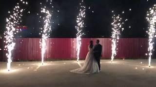 Фейерверки Рязани. Фонтаны для свадьбы с двумя эффектами.