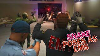 SNAKE HOSPITAL RESCUE, CELEBRATING 1 YEAR W/ FIREWORKS| GTA 5 RP NoPixel Funny Moments/Highlights 56