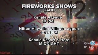 Where to watch New Year's Eve fireworks in Hawaii