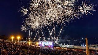 Фейерверк на день города Волгограда - 100 метровый огнепад. Потрясающе !!!