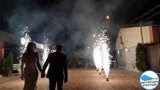 Дорожка фонтанов и свадебный салют  07 июня 2018