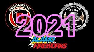 American Fireworks 2021 Demo: Part 4 - Dominator, Alamo & Cutting Edge Fireworks (500 Gram Cakes)