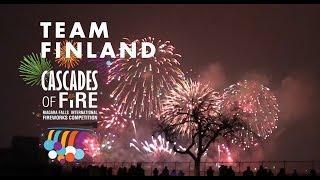 Cascades of Fire Fireworks Sync with Music: Team Finland - Niagara Falls, Canada