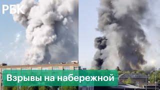Склад пиротехники загорелся в Москве, слышны взрывы - видео с места