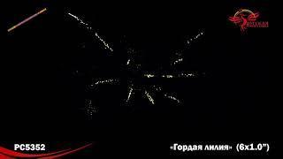 """PC5352  Римские свечи Гордая лилия 6х1.0"""" производитель Русской Пиротехники"""