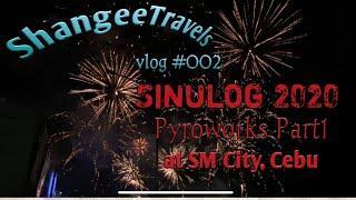 Sinulog 2020 Pyroworks Part1 | Prititit Fireworks Display | SM City Cebu | ShangeeTravels Vlog #002
