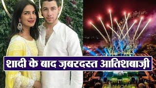 Priyanka & Nick: Amazing FIREWORKS at Umaid Bhawan Palace after Christian wedding | FilmiBeat