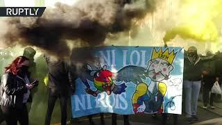 Fireworks & Tear Gas | Anti-Security Bill protesters face-off with police in Nantes