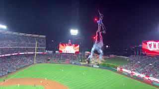 Angels win  plus 1st Saturday Night Fireworks Spectacular show of the season