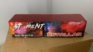 Estallar : St8ment Fireworks : 100 Shots : 20 mm : Straatfilm : GBV-WECO Vuurwerk