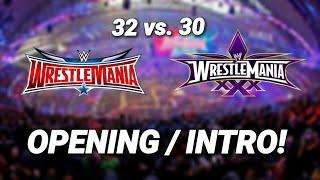 WWE WrestleMania (32 vs. 30) Fireworks Comparison!