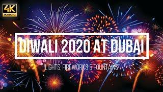 4K - Diwali at Dubai 2020 | Lighting & Fireworks | Diwali Celebrations | The Pointe Diwali Fireworks