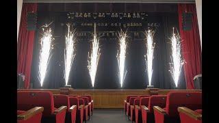 Холодный фонтан Sparkular в Новосибирске. Спецэффекты «Большого Праздника».