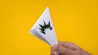Хлопушка оригами. Как сделать хлопушку из бумаги А4 без клея и без ножниц - простое оригами