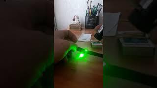 Лазер палит все. Подпаливаем спички лазером и режим изоленту
