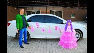 ПРИНЦЕССА Маргарита украсила папину машину Подарок на День Рождения