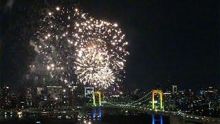 "THE ODAIBA RAINBOW FIREWORKS 2018 FROM FUJI TV's ""HACHITAMA"" SPHERE! 【Fuji TV Official】"
